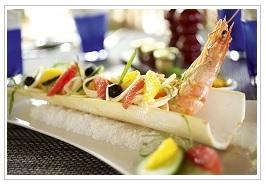 Indigo food at Belle Mare Plage hotel Mauritius