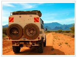 Jeep exploring Reunion Island