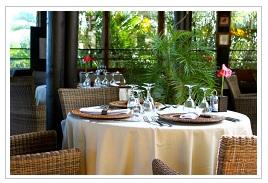 restaurant table at Iloha Seaview hotel