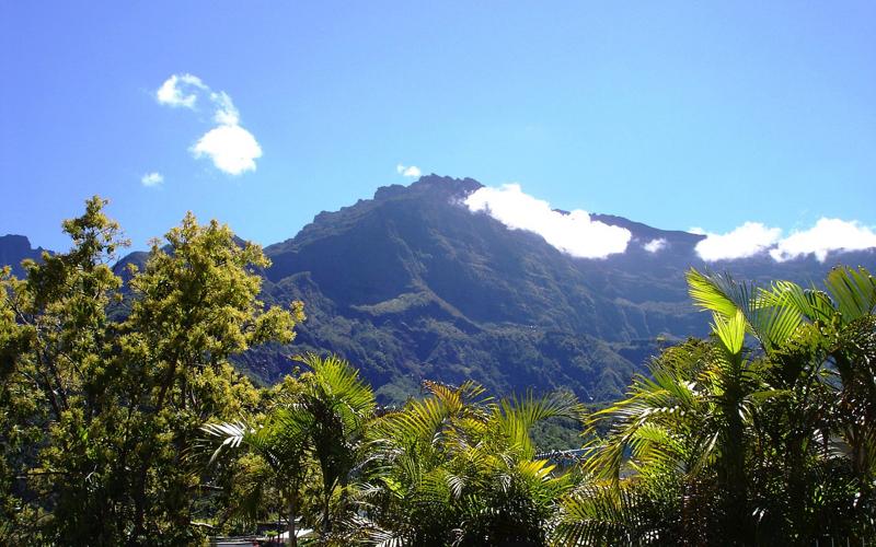 Mountain on la reunion island