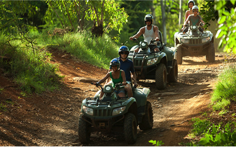 Quad bikes at Casela World of Adventures