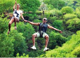 ziplines at casela world of adventures