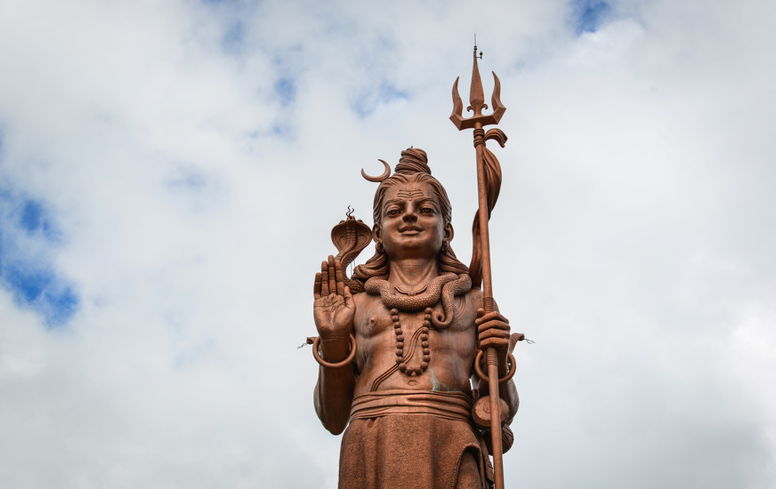 Statue of Lord shiva overlooking Sagar Shiv Mandir Temple