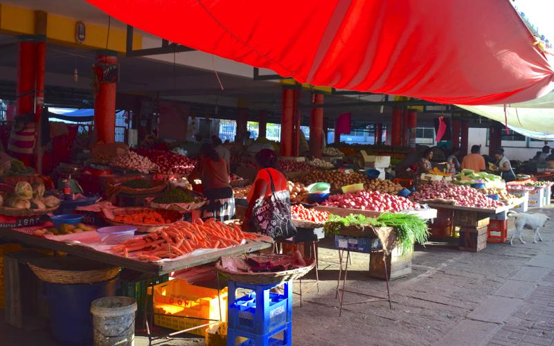 Mahebourg Mauritius - local market