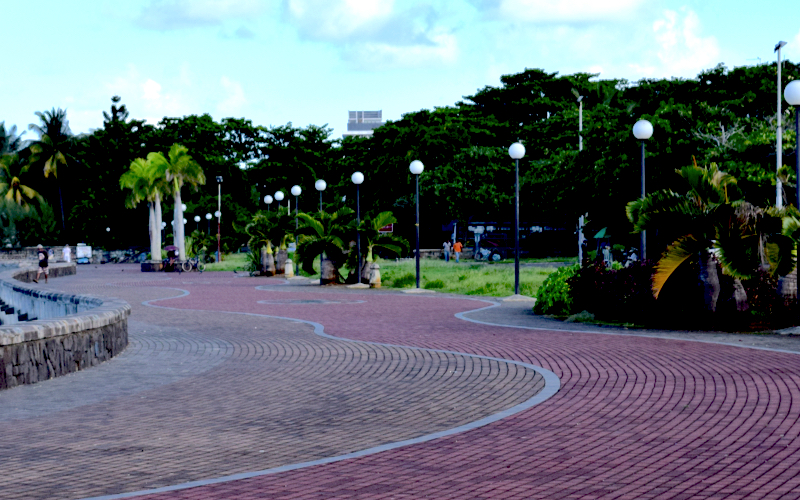 Mahebourg Mauritius Cobbled waterfront