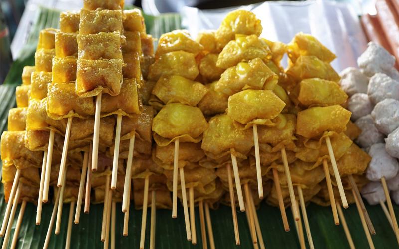 street food at Flic en Flac Mauritius