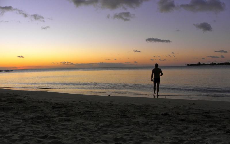 Tamarin Mauritius at sunset