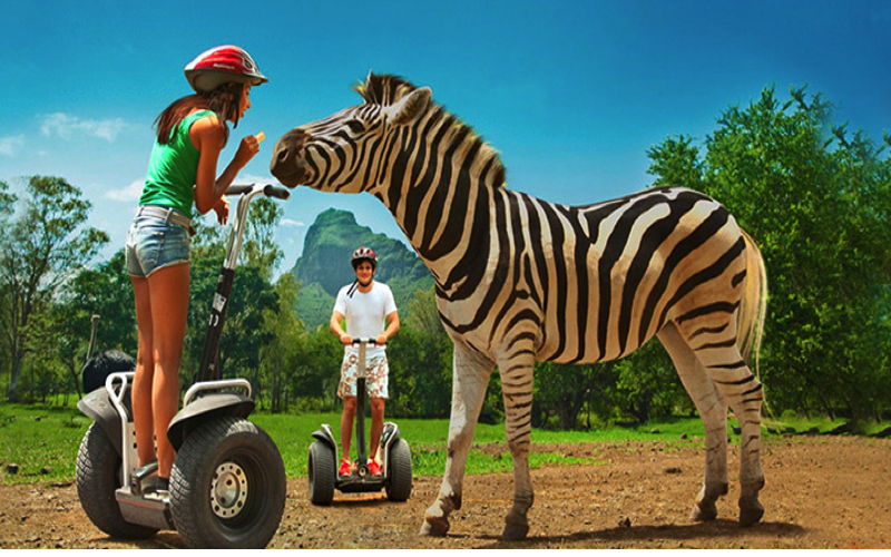 Segway at Casela World of Adventures