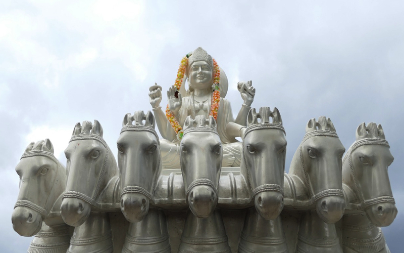 Statue at Grand Bassin Mauritius