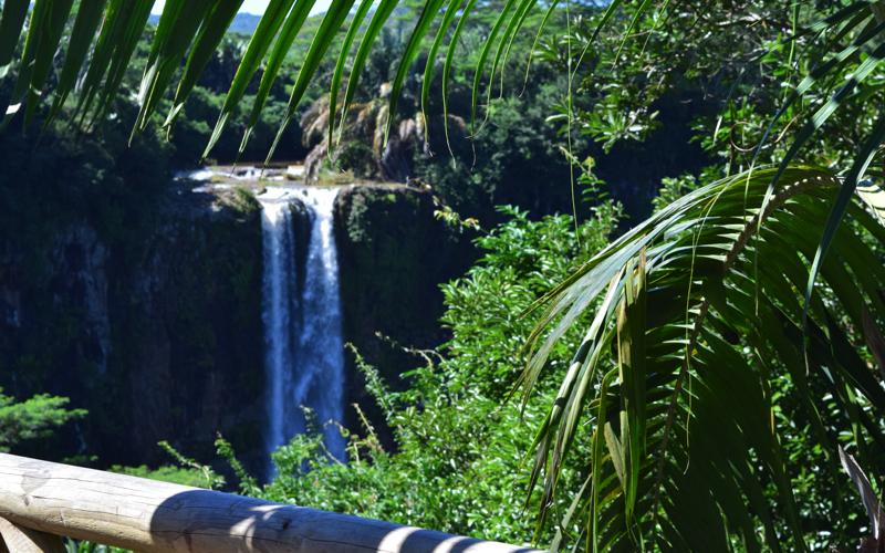 Alexandra Falls Mauritius from viewing platform