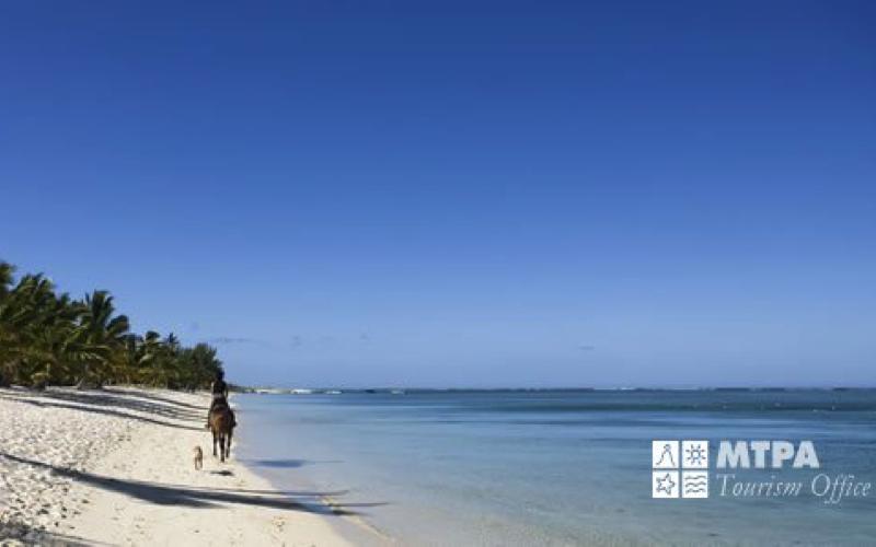 Horse riding on Mauritius Beach