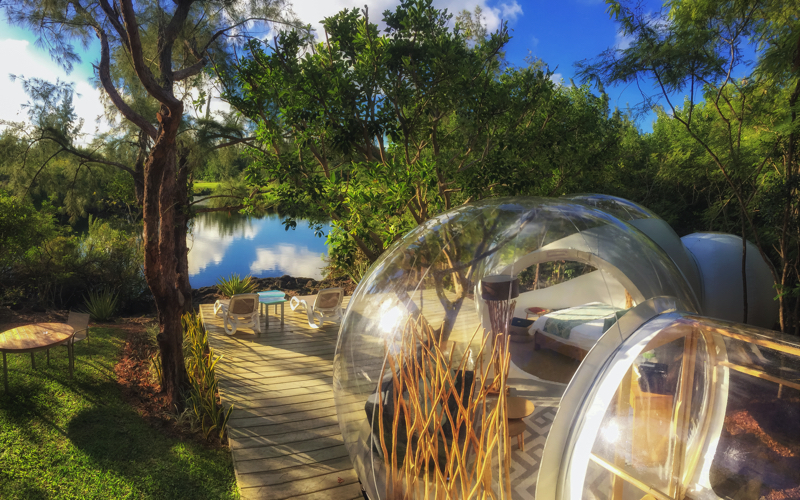 Bubble Lodge Mauritius by the lake